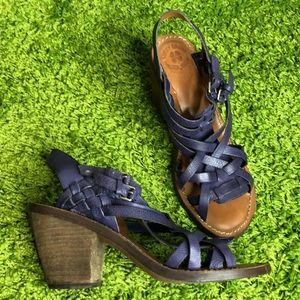 LUCKY BRAND KISA Chunky Heel Purple Sandal
